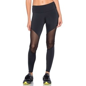 Onzie Black Mesh Track Leggings